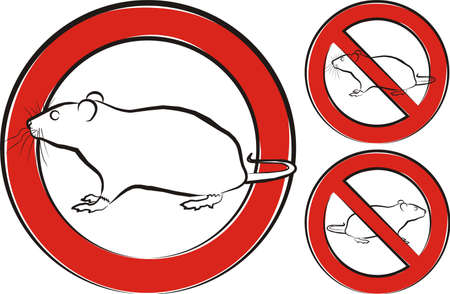 rodent: rat, rodent - warning sign