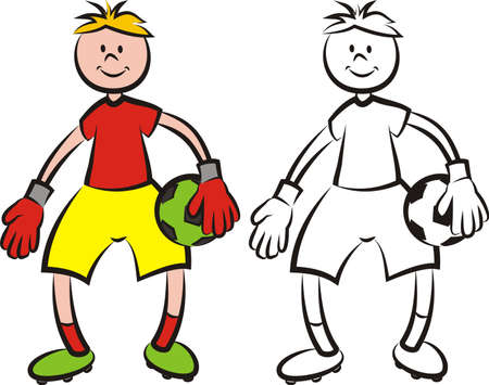 goalkeeper: vector soccer player - goalkeeper