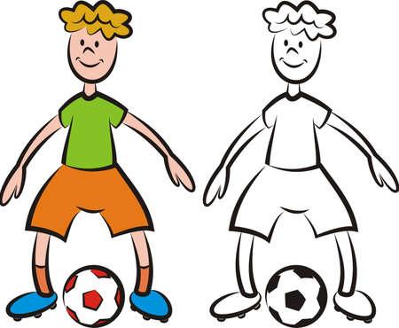 striker: vector soccer player - striker Illustration
