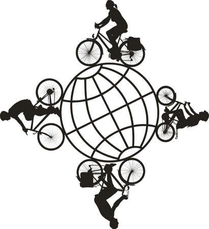 mtb: bike, cyclists - around the world