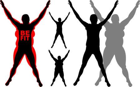 fit: Fitness - estar en forma Vectores