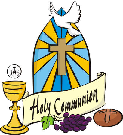 the christian religion: holy communion - vector items Illustration