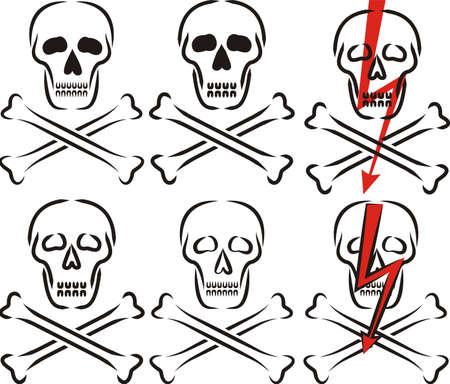 arrow poison: skull - warning sign