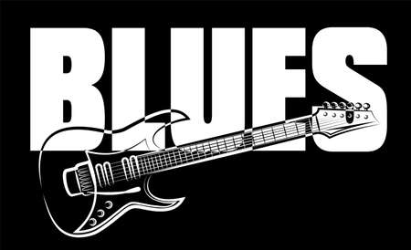 blues guitar Stock Illustratie