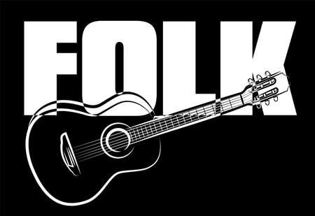 folk music: folk guitar