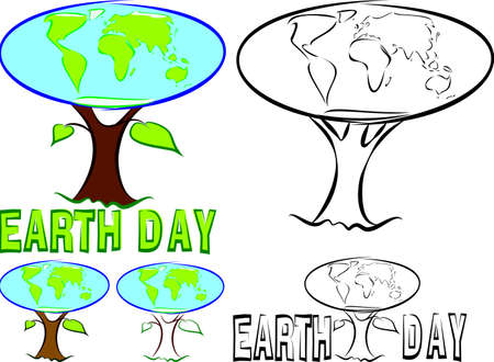 earth day: earth day - globe