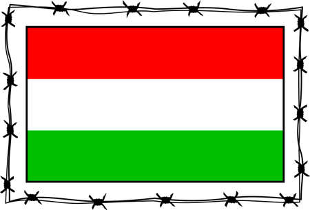 refugee: hungary flag - refugee netaphore