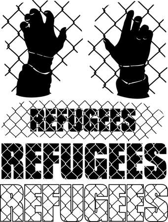 exile: refugees metaphor Illustration