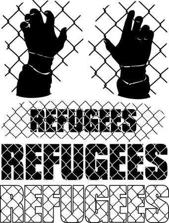 exile: refugees metaphor Illustration