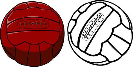 ベクトル ビンテージ サッカー ボール