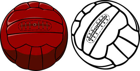 balls: vector vintage soccer ball