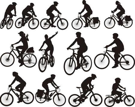 bike silhouettes - icône du cyclisme et des cyclistes