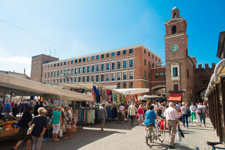 ferrara: Market square in Ferrara