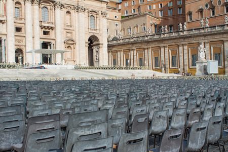 priest's ritual robes: Chairs at the Vatican