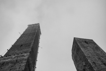 Two towers, Asinelli and Garisenda, Bologna, Italy photo