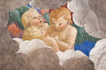 Melozzo degli Ambrosi, called da Forli (1438-1494).Group of angels Editorial