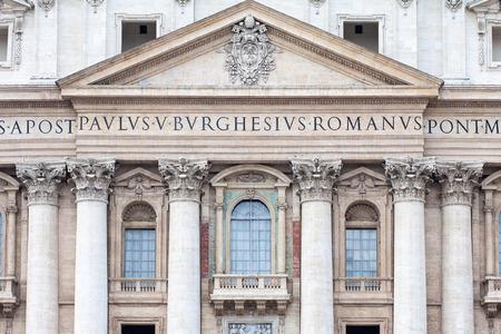 pontiff: Detail of St. Peters Basilica, Vatican