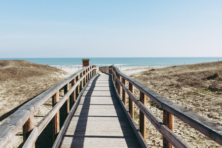 Beach of Marina di Ravenna in Italy