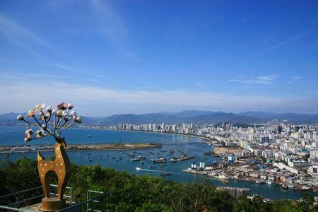 and sanya: Aerial view of Sanya City