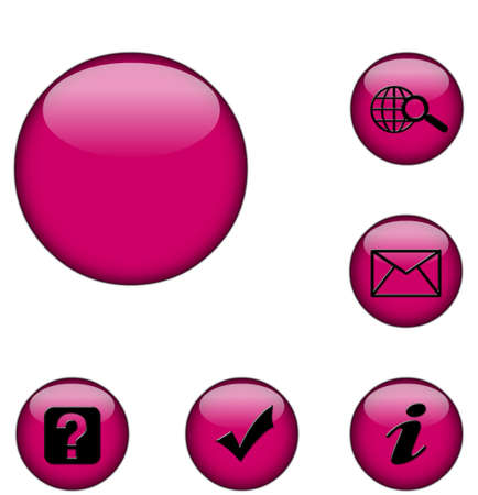 coloured web buttons with utility icons photo