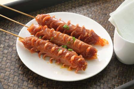 jambon Grill saucisse grillée Banque d'images