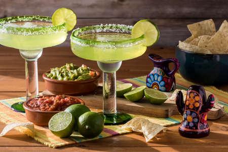 Margaritas and nachos