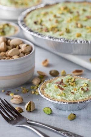 Pistachio cheesecake tarts