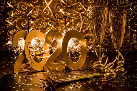 Happy New Year 2020. Stock Photo