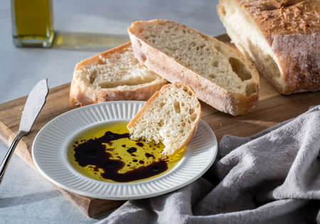 Balsamic vinegar and oil. Archivio Fotografico