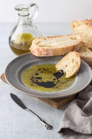 Balsamic vinegar and oil. Stock Photo