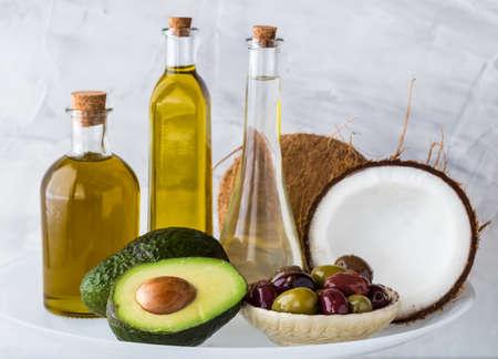 Healthy cooking oils. Imagens