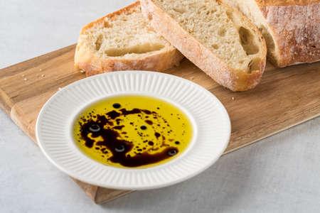 balsamic vinegar and oil.