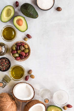 Healthy cooking oils. Stock Photo