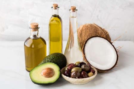 Healthy cooking oils. Archivio Fotografico