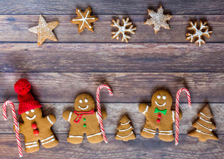 Three wise men gingerbread cookies. Stock Photo