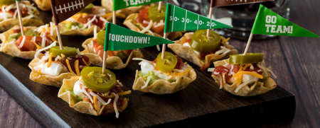 Appetizers for game day celebration. Banco de Imagens