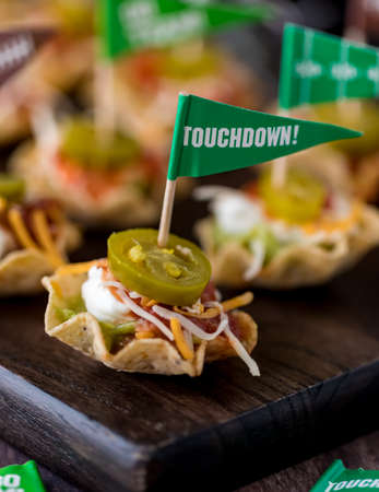 Appetizers for Super Bowl party.