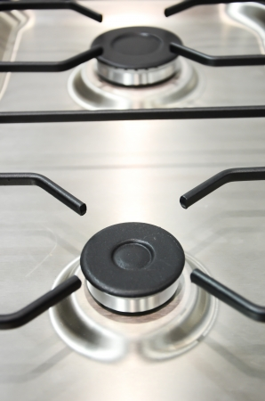 Part Of Close Up Stove For Modern Kitchen photo