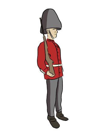 illustation: Vector illustation of British soldier