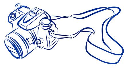 ilustracji wektorowych z kamery wolną rękę szkic
