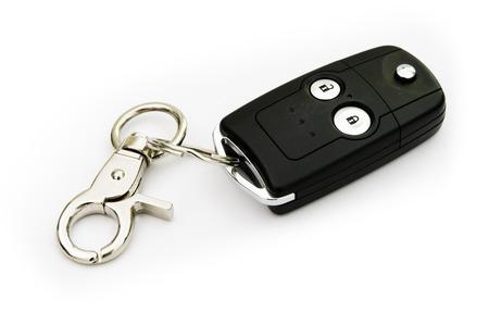 Car key isolate on white background photo