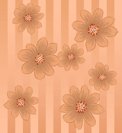 brownish: Vector of Brownish flower background pattern