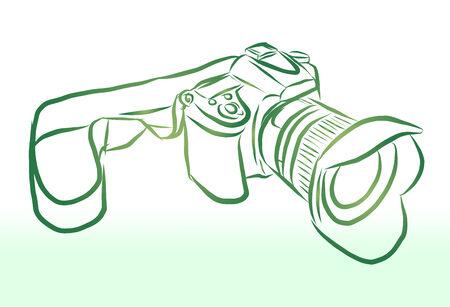 Vector of free hand sketch camera Vector