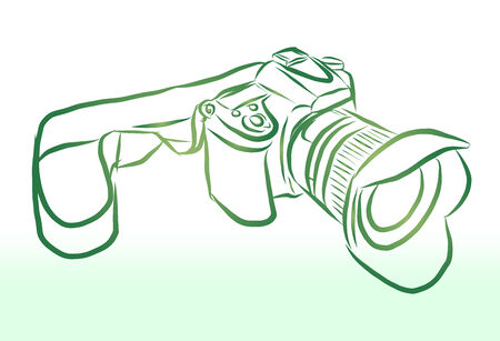 Vector of free hand sketch camera Vector