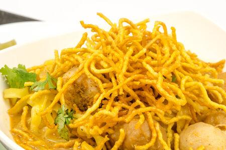 soi: Khoa soi - spicy noodle of northern Thai food Stock Photo