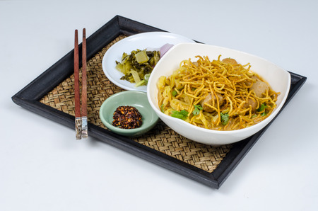 Khoa soi - spicy noodle of northern Thai food photo