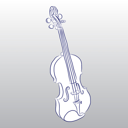 free hand: Vector of Violin free hand drawing Illustration