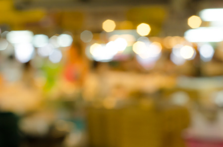 Abstract blurred market  for background photo