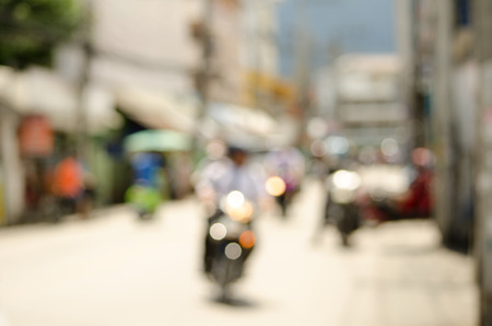 multiple lane highway: Blurred bike on road in Chiangmai Thailand
