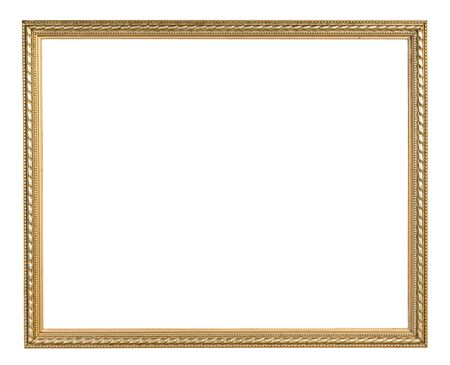 antique frames: Golden vintage frame isolated on white background with clipping path